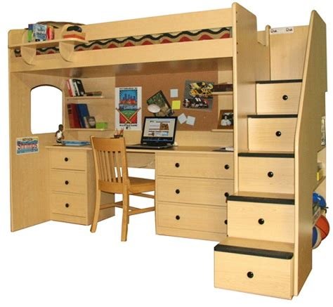 bed and desk set cassualy chatting on twin loft bed with desk kids