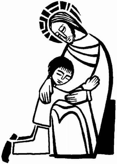 Reconciliation Coloring Sacrament Jesus Children Pages Clipart