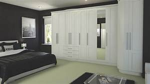 Contemporary White Modular Bedroom Furniture System ...