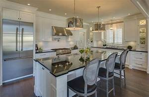 36 inspiring kitchens with white cabinets and dark granite With kitchen colors with white cabinets with art show display walls