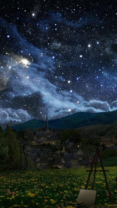 tribute night sky starry easel alex ruiz wallpaper
