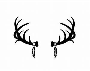 Popular items for deer antlers clipart on Etsy