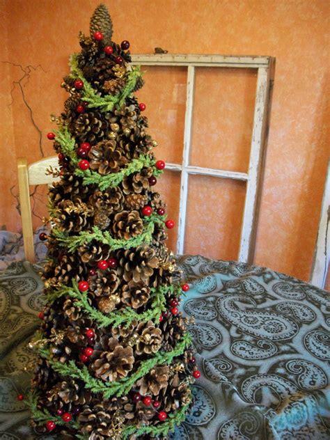 diys    pine cone christmas tree guide patterns