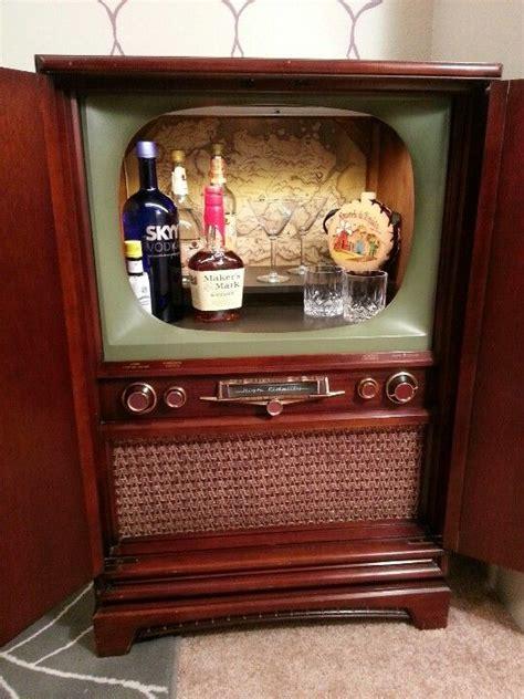 vintage tv cabinet bar   home decor upscale