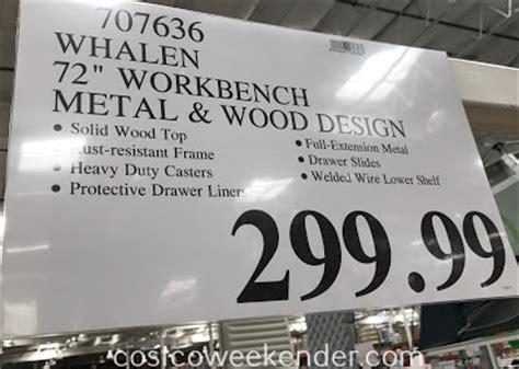 whalen industrial metal  wood workbench costco weekender