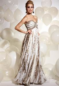 Polizzi Size Chart 2012 Terani Couture Ivory And Leoaprd Long Prom Dress 620