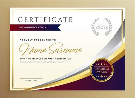 stylish certificate template design  golden theme vector