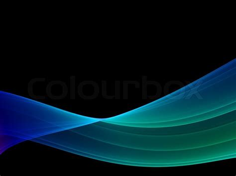 mystical wave multicolored high quality render black