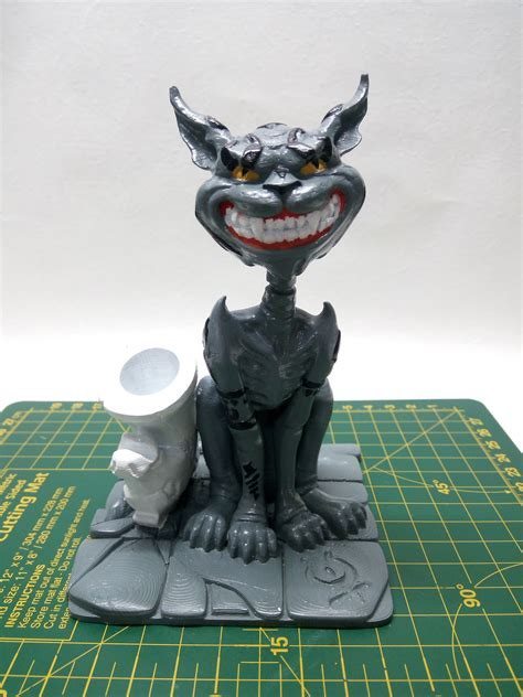 3d Printable Cheshire Cat Pen Holder By Grinnt