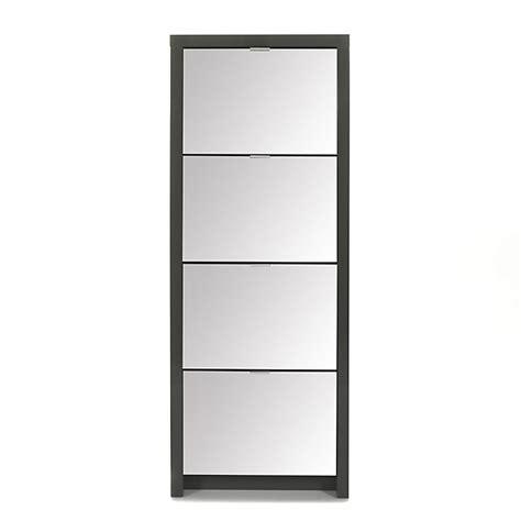 meuble bureau alinea meuble à chaussures vitré et gris miror ameublement