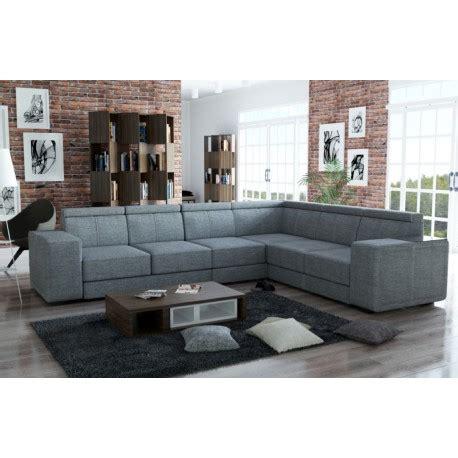 canapé d angle gris chiné canapé d 39 angle de grande taille 7 places caaria tissu