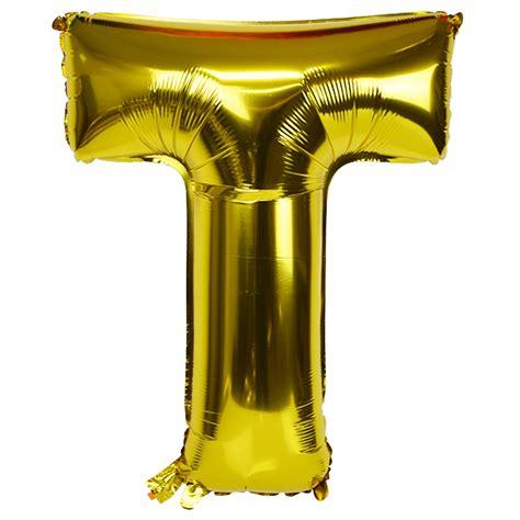 foil letter balloons 30 quot foil mylar balloon gold letter t 16534