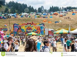 Amusement Rides And Tents On Rozhen Folklore Festival ...
