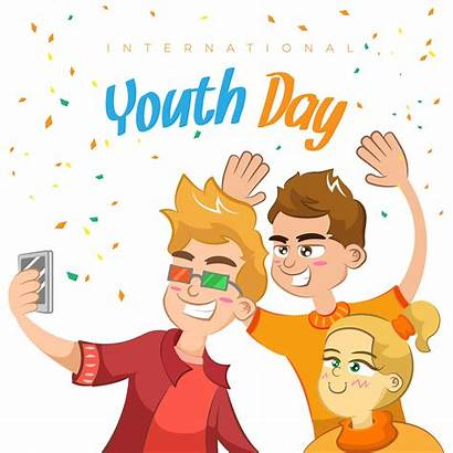 Youth Background Fun Having Happy Vector Premium