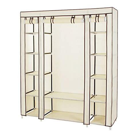 songmics 59 portable clothes closet wardrobe non woven