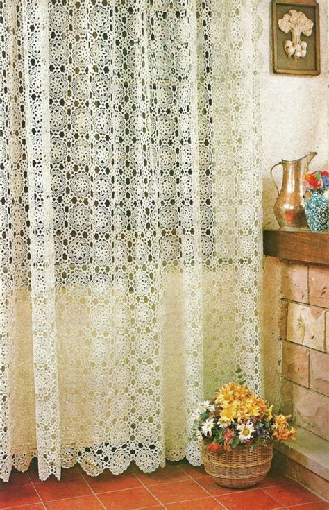 Free Drapery Patterns by The Crochet Curtains Curtains With Charm Of Covers Home