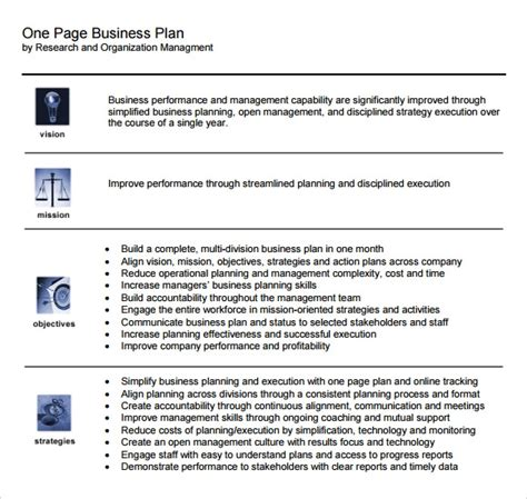 page business plan samples  ms word pages