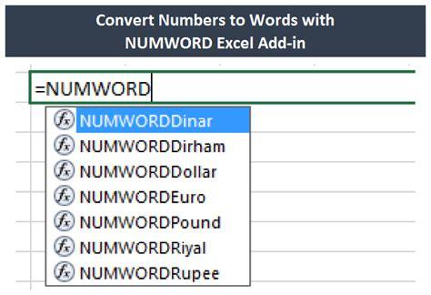 convert numbers  wordstext  excel  pasting