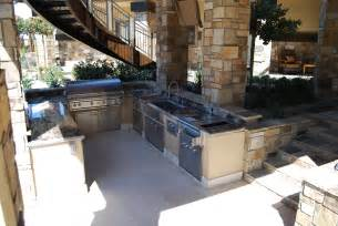 outdoor kitchen kitchens fryer shaped plans built deep rustic island bbq las vegas lynx nevada fryers backyard patio staircase components
