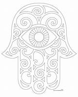 Hamsa Coloring Embroidery Patterns Enjoy Eye sketch template