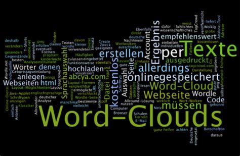 word clouds kostenlos  erstellen die besten