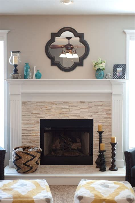 Decorating Ideas Next To Fireplace by Stacked Fireplace By Halvorson Designs