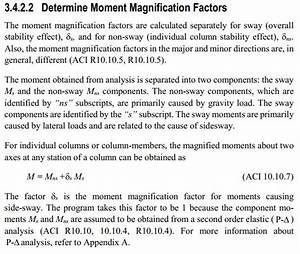 Why Does Etabs Software Calculate Magnified Moment  Aci