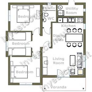 small 3 bedroom house floor plans builder in bourgas bulgaria investconsult