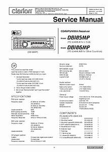 Clarion Vrx848rvd Service Manual Free Download  Schematics  Eeprom  Repair Info For Electronics