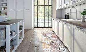 Tapis Pvc Carreaux De Ciment : les tapis s emparent de nos cuisines blogimmo ~ Teatrodelosmanantiales.com Idées de Décoration