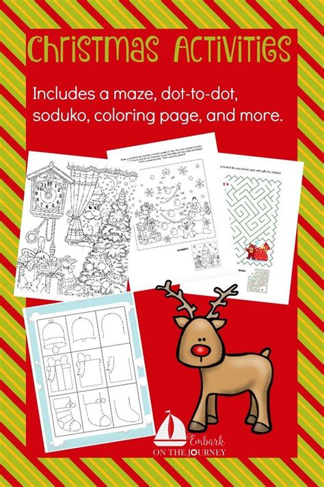 christmas activity pack for kids christmas activities