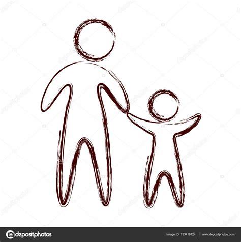 symbol familie familie eltern silhouette isoliert symbol stockvektor
