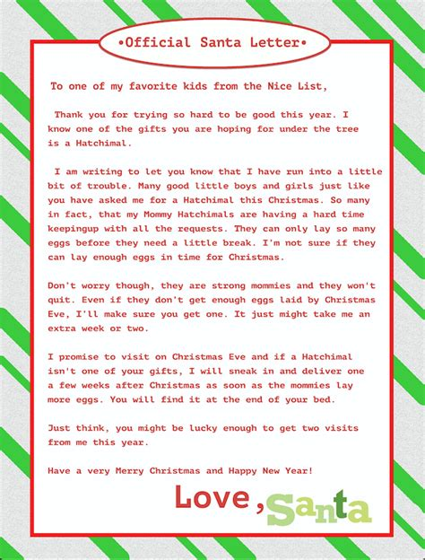 letter to child about santa i think i m as ready as i m can t find a hatchimal feel great in 8 70020
