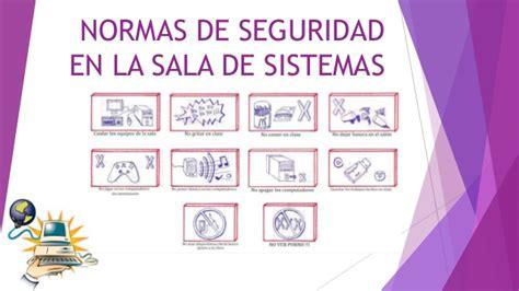 normas de seguridad en la sala de sistemas