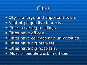 Essay On Town Life Compare the advantages and disadvantages of