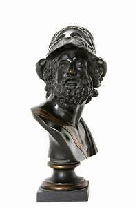 Ajax, Greek Warrior Bust, Bronze Sculpture