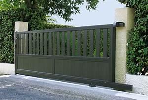 Portail Coulissant En Pente : portail coulissant aluminium garita portail manuel ~ Premium-room.com Idées de Décoration