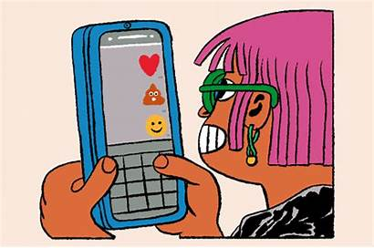 Giphy Students Phone Emoji Gifs Hello Text