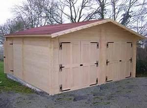 Garage Voiture En Bois : garage bois garages kit panneaux ou madriers promo france abris ~ Dallasstarsshop.com Idées de Décoration