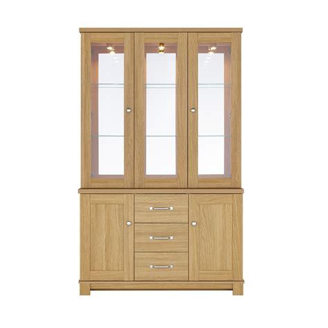 glass door display cabinet kingstown dalby 3 door glass display cabinet display