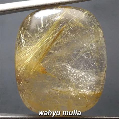 Kecubung Rambut Salai batu kecubung rambut emas ukuran besar asli kode 866