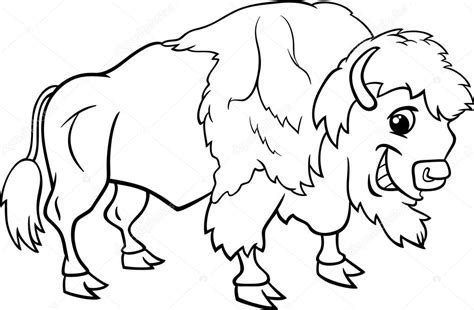 bison coloring pages    print