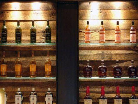 bar detail reclaimed wood steel  glass loft