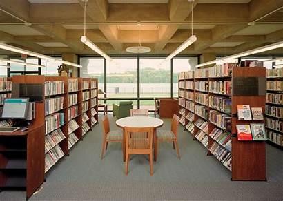 Library Grundy Architecture Illuminating Beam
