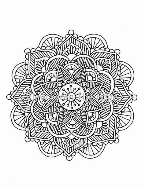 Mandala Coloring Page Mehndi Henna Printable PDF by Katie N. Dunphy | Mandala coloring pages