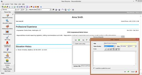 Sarmsoft Resume Builder Portable by Software To Write Your Curriculum Vitae