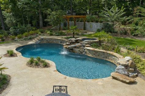 atlanta pool builder freeform in ground swimming pool