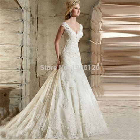 Civil Elegant Wedding Dresses Turkey Lace Bridal Gowns