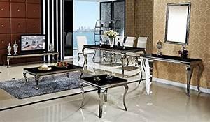 Designer Tv Tisch : esstisch 180 x 90 x 76 lara schwarz esszimmer designer luxus tisch b ro edelstahl glas barock ~ Markanthonyermac.com Haus und Dekorationen