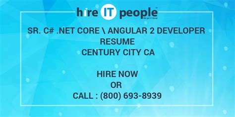 sr  net core angular  developer resume century city